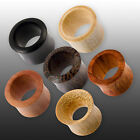 4-50mm FLESH TUNNEL TUBE OHR EAR PLUG HOLZ WOOD horn braun black Earlets organic