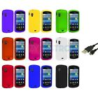 Hard Snap-On Rubberized Case Cover+USB Cable for Samsung Stratosphere i405