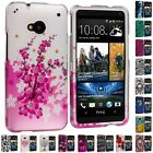 Design Hard Rubberized Snap-On Skin Case Cover for HTC One M7 Phone Accessory