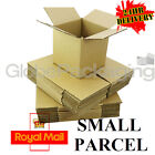 "3"" CUBE S/W CARDBOARD POSTAL BOXES - ROYAL MAIL SMALL PARCEL SIZE - 3x3x3"""