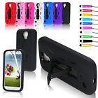 Shock Proof Stand Case Cover For Samsung Galaxy S4 SIV i9500 + Screen Protector
