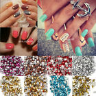 Nail Art 3D Design Metallic Studs Gold & Silver Stud Wheel Round Tips Deocration