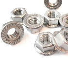 A4 STAINLESS M3 M4 M5 M6 M8 M10 M12 HEXAGON HEX FLANGE NUTS SERRATED NUT MARINE