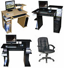 NEW COMPUTER DESK w/Keyboard Shelf+OFFICE CHAIR,SEAT Home/Business Furniture #25