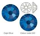 Capri Blue (243) Swarovski Elements foiled flat back hot fix or glue on crystals