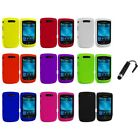 Color Hard Rubberized Case Cover+Stylus Plug for Blackberry Torch 9800 9810