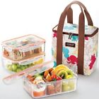 Lock & Lock BPA Free Bento Lunch Box Set w/Insulated Bag + 3 Tritan Containers