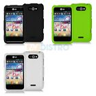 Color Hard Snap-On Rubberized Skin Case Cover for LG Motion 4G MS770 Accessory