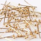Beauty Mixed Plated Golden Tone Charms Copper Ball Head Pins Fit Jewelry Making