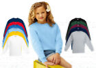 Kids Fruit of the Loom Set In Sleeve Sweatshirt, Kids-T-shirt 11 Colours