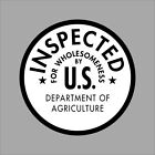 USDA Inspected Wholesomeness Vinyl Decal Sticker Window Wall Car Printed