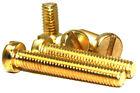 M6 (6mm) BRASS MACHINE SCREW SLOTTED PAN HEAD  DIN85- FREE UK DELIVERY