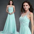 Women's Stock Chiffon Formal Party Ball Gown Prom Bridesmaid Long Evening Dress