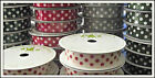 Polka Dots 15mm Ribbon Twill Tape 4m Reel Choose Col Red Grey Cream Green Moss