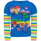 "Dr. Seuss Girl's ""One Fish Two Fish"" Rainbow Long Sleeve Shirt- Sizes 2T-4T"