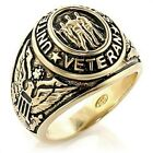GOLD EP UNITED STATES VETERAN MILITARY MENS RING SIZE 8 9 10 11 12 13
