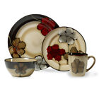 Pfaltzgraff Everyday Painted Poppies Dinnerware Set, 32 Piece, Service for 8