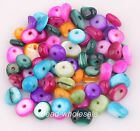 100pcs 6mm-10mm Charm Multicolored Pearl Shell Baroque Chip Rondelle Crafts Bead
