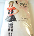 Queen Enchanted Red Black Child Dress Costume 7-10 10-12 NIP