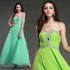 Stock Long Lady Formal Prom Ball Gowns Bridesmaid Cocktail Wedding Evening Dress