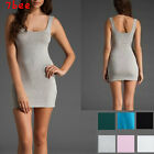 Womens Vintage Bodycon Sleeveless Tops Mini Dress Casual Long Tank T-Shirt