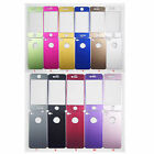 Brushed Aluminum Front Back Skin Cover Case for iPhone 4 4S 4G