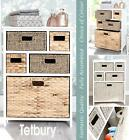 TETBURY White Storage Unit , Wicker Baskets, Bathroom storage, Hallway storage
