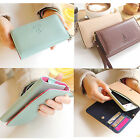 New Ladies Leather Handbag Coin Card Wrist Wallet Purse Case Cell Phone Bag