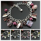 SB214DEF Coloured Glaze Heart Fashionable Tibetan Bracelet Bangle