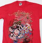 Ed Hardy Signature Tattoo Graphics Red Short Sleeve Tee T Shirt Youth Boys NWT