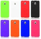 For HTC One Mini M4 Cover Silicone Soft Gel Rubber Accessory Case