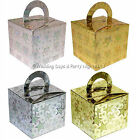 50 Holographic Favour Boxes Wedding Engagement Birthday Party Sweets Cake Box
