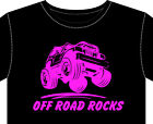 """Mens T-Shirt """"OFF ROAD ROCKS"""" fun gift 4 X 4 land rover jeep buggy 4x4"""