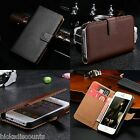Genuine Real Leather Flip Wallet Case Cover For Apple Iphone 5/5s 6 And 6 Plus