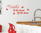 Kitchen is the heart of home wall sticker quote vinyl wall art home decoration