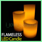 Led Battery Operated Flickering Real Wax Pillar Candle Ivory Flameless Wedding