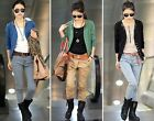 Womens Long Sleeve Cotton Blended Cardigan Short Coat Jacket Blazer Tops M L XL
