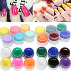 Nail Art Pure Solid Builder 6 Colors UV Gel Set Shiny Extension Manicure Decor