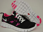 NEW Girls Kids Youth NIKE Free Run 2.0 4777010 001 Black Pink Sneakers Shoes