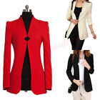 Fashion Slim Solid Color Shrug Long Sleeve Small Suit Jacket Coat for Women