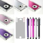 For Apple iPhone 5C Luxury Brushed Aluminum Metal Bling Diamond Hard Case Cover