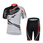 Speed Queen Cycling Bike Short Sleeve Bicycle Women Jersey + Shorts Set S-2XL