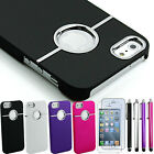 Deluxe Hard Back Protective Case Cover Shell W/Chrome For Apple iPhone 5S 5 5G