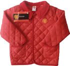 Manchester Utd Football Jacket Coat Baby Diamond Quilted Official Red