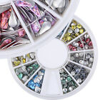 Nail Art Colorful Metallic Rivet 3D Decoration Hexagon Round Drop Heart Studs