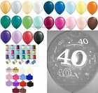 40th Birthday/Anniversary Party Helium Balloons Ribbons & Weights Decoration Kit