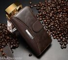 Stylish Leather Iphone 5 Case Flip wallet Cover Card holder + Screen protecter