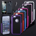 For Apple iPhone 5 5S New Hybrid Impact Combo Rugged Cover Case + Protector& Pen