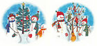 Ceramic Decals Country Snowman Snowmen Christmas Tree Stocking Ornament  2 dsgns