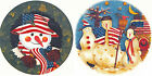 Ceramic Decals Patriotic Snowmen Snowman Scene 2 Designs Holly Wreath